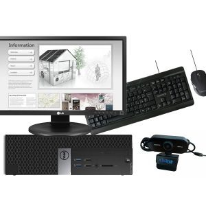 "DELL OptiPlex 3040 Desktop SFF + Monitor LG 24"" FullHD LED + mouse e tastiera wireless + webcam"
