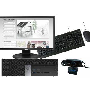 """DELL OptiPlex 3040 Desktop SFF + Monitor LG 24"""" FullHD LED + mouse e tastiera wireless + webcam"""
